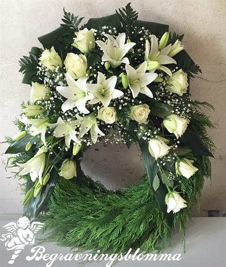 ord på begravningskrans